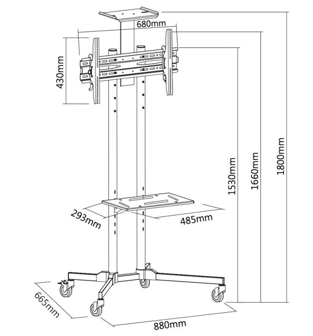 Maclean MC-661 (TV Trolley stand) pilt 2